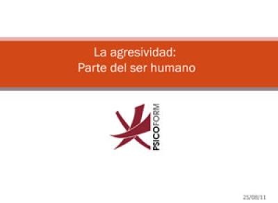 La agresividad parte del ser humano